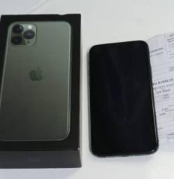 Título do anúncio: iPhone 11 Pro 256 verde 89% bateria 1 mês  de garantia da Apple