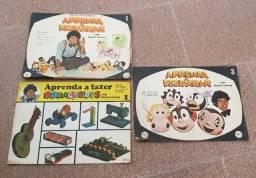 Título do anúncio: Aprenda a Desenhar e Aprenda a fazer brinquedos com Daniel Azulay Editora Ebal