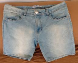 Bermuda Jeans. Cor Azul Clara. TAM 40