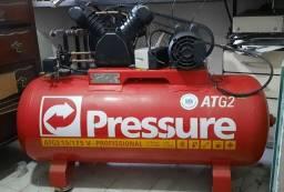 Compressor de ar Pressure ATG2 - 15 pés 3hp 175 lts semi novo