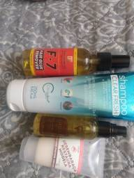 Shampoo cauterização óleo de argan e removedor de prótese capilar