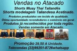Shorts Profissional Muay Thai Diversos Tamanhos Cores Atacado Promoção