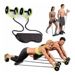 Kit De Treino Com Rodas Para Exercicio Abdominal