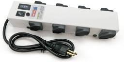 Filtro linha 08 tomadas com liga/desliga 2200w cabo plug 1,0m