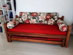 Sofa cama de madeira