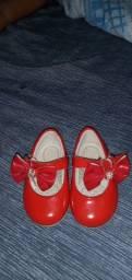 Sapatinho vermelho baby