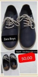 Título do anúncio: Sapato Zara Boys n34 novo