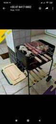 Churrasqueira+ kit churrasco com 6 itens nova