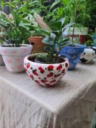 Vaso decorado morango