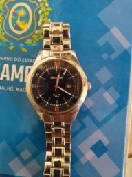 Relógio Mondaine todo inox, tamanho G!