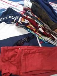 Lote roupa menino até 8 anos