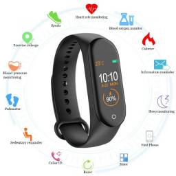 Relógio smart global version m4/ relógio inteligente bluetooth à prova d?água