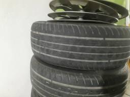 Título do anúncio: Aros 14 com pneus ótimos