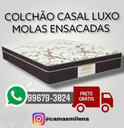 Título do anúncio: COLCHÃO DE CASAL LUXO PRONTA ENTREGA GRÁTIS