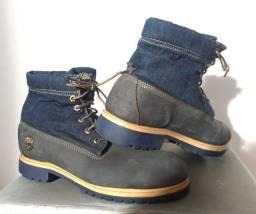 Bota Masculina Timberland Jeans e Couro Original