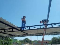 Título do anúncio: Telhado, cobertur,Telhado galvanizado,estrutura em ferro