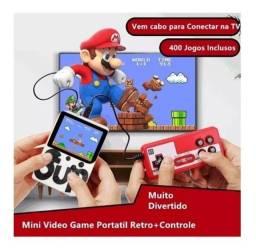 Título do anúncio: Mini Game Sup Retrô Portátil Com Controle 400 Jogos Nintendo - Promoção