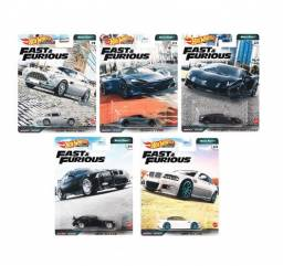 Hot Wheels - Set 5 Miniaturas - Velozes e Furiosos - Euro Fast
