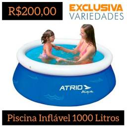 Piscina Inflável Redonda 1000 Litros Átrio + Entrega Grátis