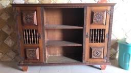 Móvel estante de madeira maciça