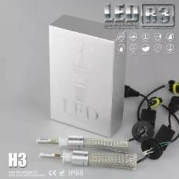Kit Super Led H3 9600 Lumens P70 12v E 24v Headlight