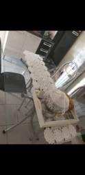 Mesa de inox com vidro/ Armário Itatiaia