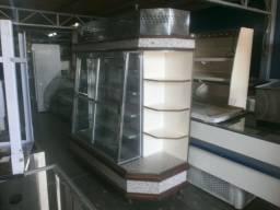 Geladeira iogurteira , frios e laticínios - porta vidro correr - com cantoneira