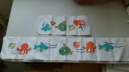 3 Apliques para mantas e toalhas de bebê
