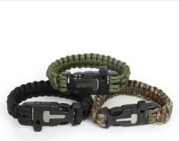 Bracelete Paracord / Sobrevivência 5 em 1