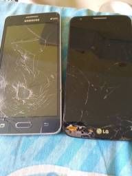 Samsung e LG quebrados