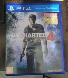 Uncharted 4 A Thiefs End - Para Ps4 - Mídia Física