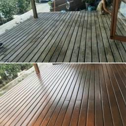 Restauração deck de madeira - pintura de piscina e pintura residencial