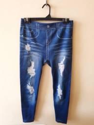 Calça legging jeans M/G