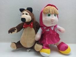 Masha E O Urso Pelúcia Musical Boneca Desenhos Filmes Marsha