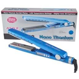 Prancha de cabelo BabylissPRO Nano Titanium azul 110V/220V