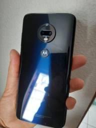 Troco Moto G7 Plus azul indigo 4gb de ram e 64gb