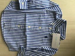 Camisa social para bebê Ralph Lauren original