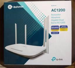 Roteador TPLINK Gigabit dualband ac1200 novo