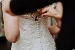 Vestido de noiva em perfeito estado!! Tam 38 - Estilista Ju Cardoso