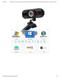 Webcam Fifine 1080p Full Hd Webcam Usb & Laptop Com Microfone Vídeo