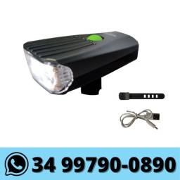 Lanterna Farol para Bike Luz Branca Recarregavel