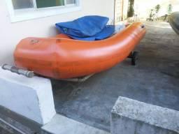 Título do anúncio: Bote Inflável SR 10 pés motor 15 HP
