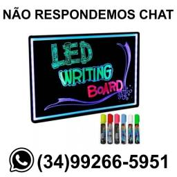 Lousa Led Neon 40x60cm Usb c/ 6 Canecas * Fazemos Entregas