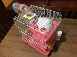 Título do anúncio: Gaiola Hamster Safari Grande - Rosa