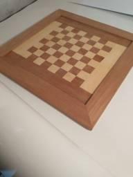 tabuleiro de madeira domino i dama 60