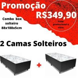 Promocao 2 camas solteiros 350 reais