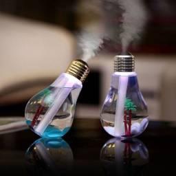 Difusor Umidificador Ambiente Luminária Lâmpada Ar Luz Led USB
