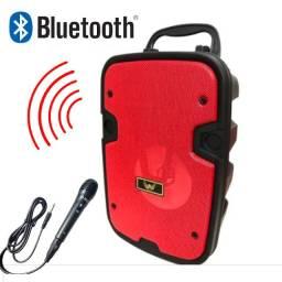 Título do anúncio: Caixa De Som Portátil Bluetooth Radio Fm Aux Mp3 e Mic - Super Potente