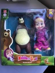 Masha e o Urso bonecos de vinil novo na caixa! Brinquedo infantil Divertoys