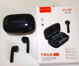 Título do anúncio: Fone De Ouvido s/ Fio LY-120 H'maston Bluetooth Case Carregador USB p/ Celular